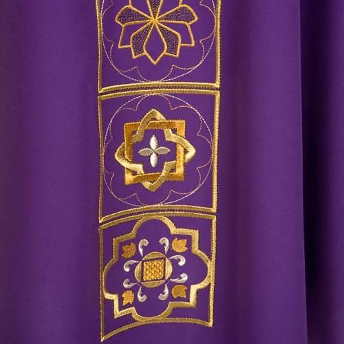 Chasuble liturgique décor doré s6