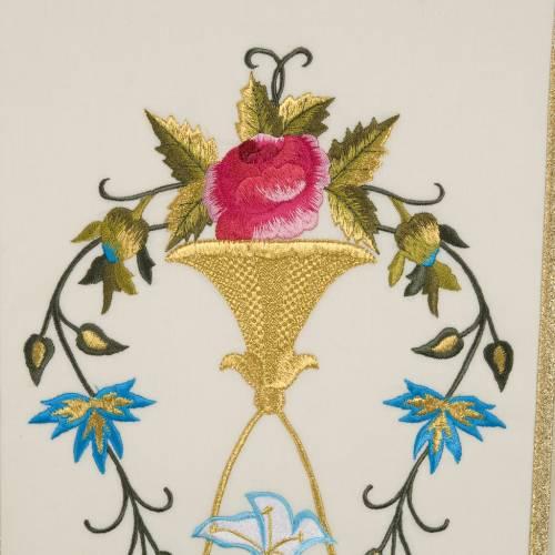 Chasuble Mariale 100% laine peinte à la main s5