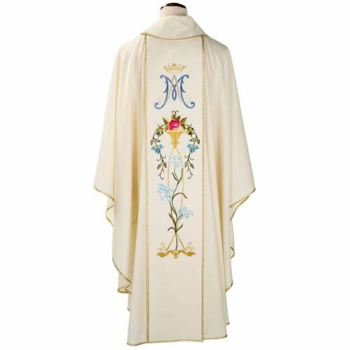 Chasuble Mariale 100% laine peinte à la main s2