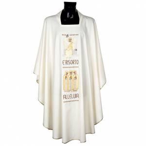Chasuble Mariale et étole  avec ange et croix s1