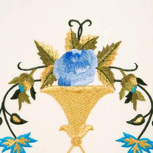 Chasuble Mariale Vierge Marie et symbole 100% laine peinte s5