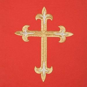 Chasuble rouge avec Saint Esprit et flammes s7