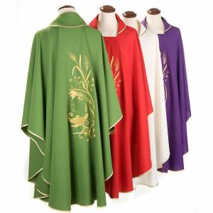 Chasuble with gold lamp and ears of wheat s2