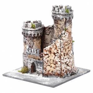 Château crèche Naples en résine et liège 17x15x15 cm s2