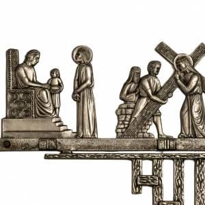 Chemin de croix en laiton 14 stations 2 pièces s2