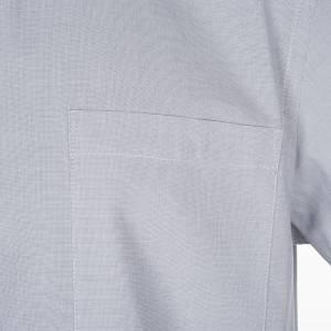 Chemises Clergyman: STOCK Chemise clergy m.courte fil à fil gris clair
