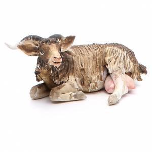 Chèvre couchée 18cm crèche Angela Tripi s4