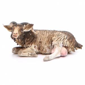 Chèvre couchée 18cm crèche Angela Tripi s1