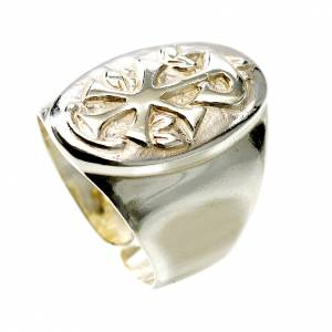 Bishop's items: Chi-Rho silver ring