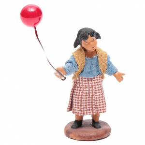 Belén napolitano: Chica con globo 12 cm Belén napolitano