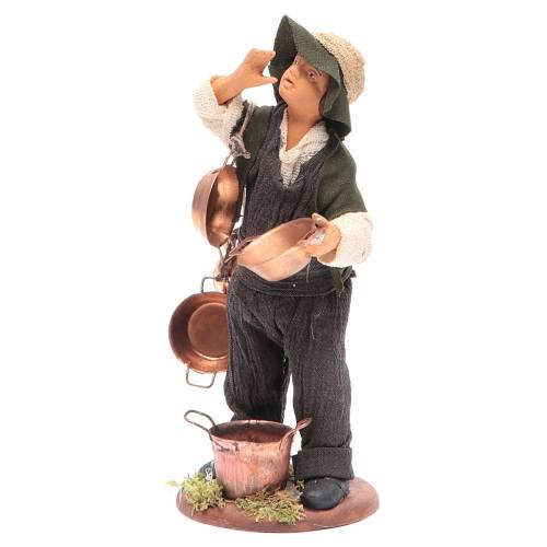 Chico con caserolas en cobre 14 cm belén Napolitano s2
