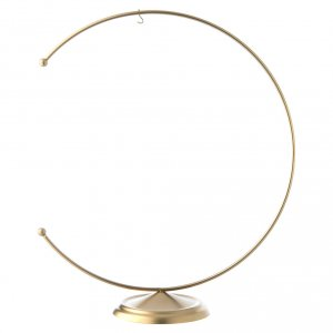 Christmas balls: Christmas bauble hook in gold metal 200 mm