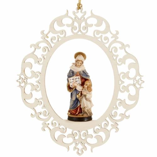 Christmas decor Saint Anne and young Mary wood s1