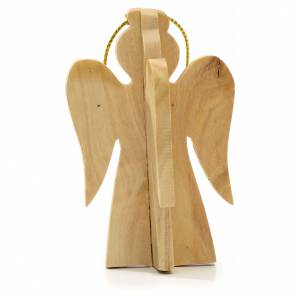 Christmas decoration in Holy Land olive wood, angel s2