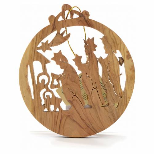 Christmas decoration in Holy Land olive wood, Wise Kings s1
