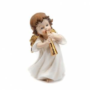 Christmas decoration, white angel with trumpet s1