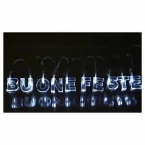 Christmas lights: Christmas light, BUONE FESTE, ice white, for indoor use