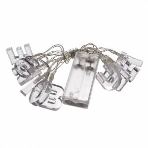 Christmas light, BUONE FESTE, ice white, for indoor use s3