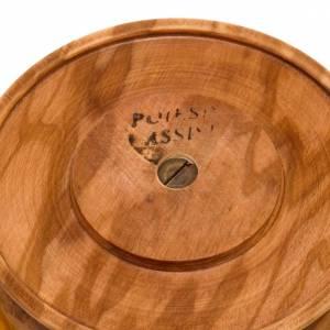 Ciboire,bois d'olivier, petite taille, diamètre 11cm s2