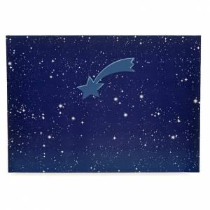 Ciel lumineux avec étoile filante crèche 50x70 cm s1