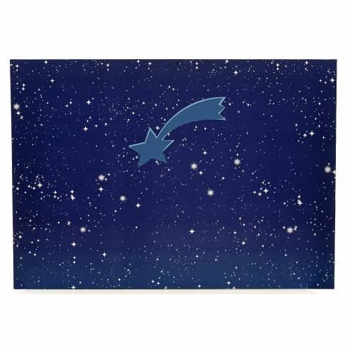 Cielo luminoso pesebre con estrellas y cometa 50x70 s1