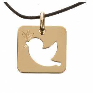 Pendenti, croci, spille, catenelle: Ciondolo colomba della pace oro 750/00 - gr. 2,27