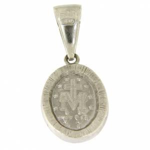 Ciondolo Madonna Miracolosa argento 925 zirconi neri s2