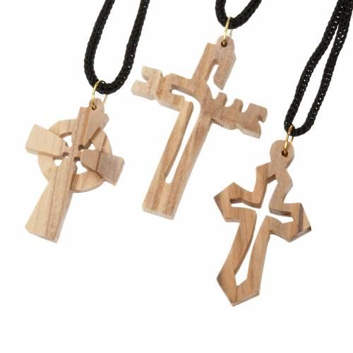 Croce legno olivo s1