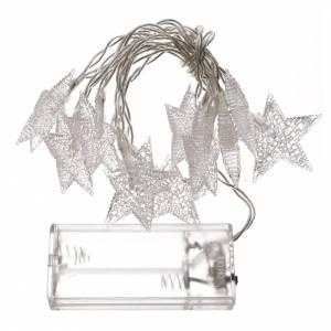 Éclairage de Noël set 10 étoiles led blanc glace s3