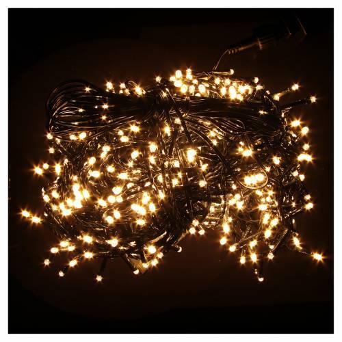 Éclairage Noël chaîne 600 LEDS blanc chaud EXTÉRIEUR programmable s2