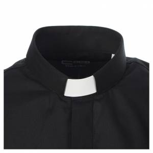 Clergy shirt solid colour and diagonal black long sleeve s3