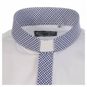 Clergy shirt white contrast crosses long sleeve s3