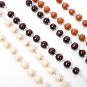 Coconnut-effect rosary with round beads s6