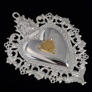 coeur votif Padre Pio 9.5x7.5 cm s4