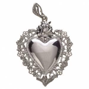 Colgantes, cruces y broches: Colgante corazón ex-voto plata 800