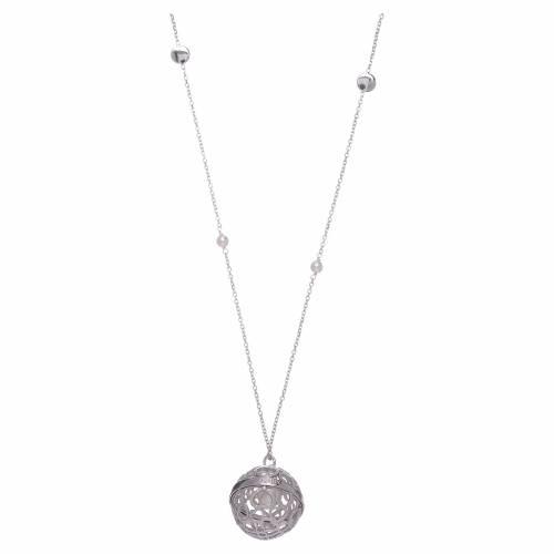 Collana AMEN chiama Angeli argento 925 e perle s2