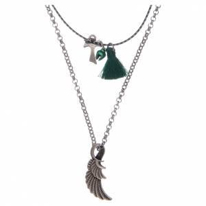 Pendenti, croci, spille, catenelle: Collana con Tau e ala d'angelo