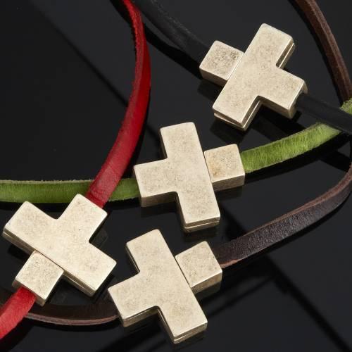 Collier croix métal cuir Medjugorje s3