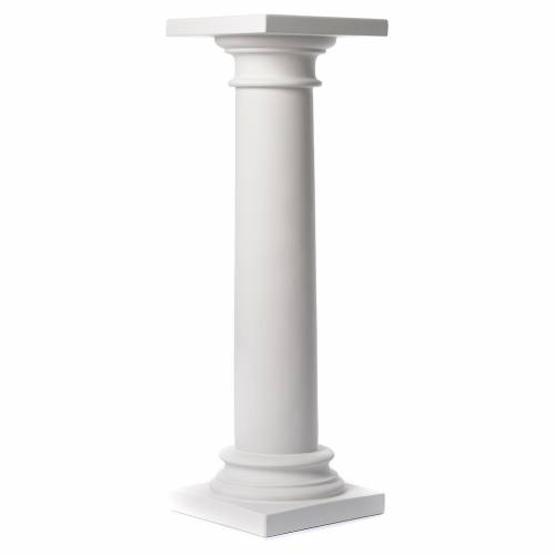 Column, polished finish, in reconstituted Carrara marble 39,37in s1