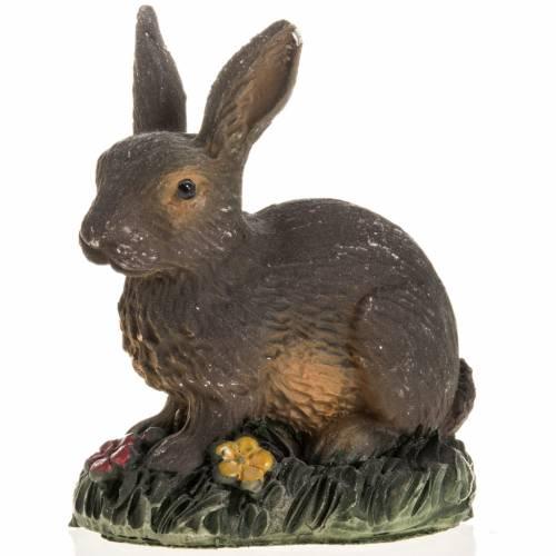 Coniglio marrone resina presepe 14 cm s1