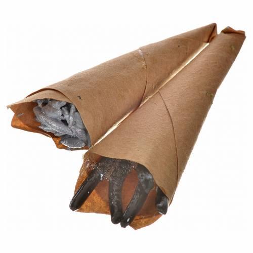 Cono de anchoas y anguilas 2 pz pesebre napolitano 5 cm s1