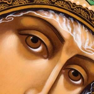 Ícono ortodoxa Virgen de Kazan pintada Rusia s3