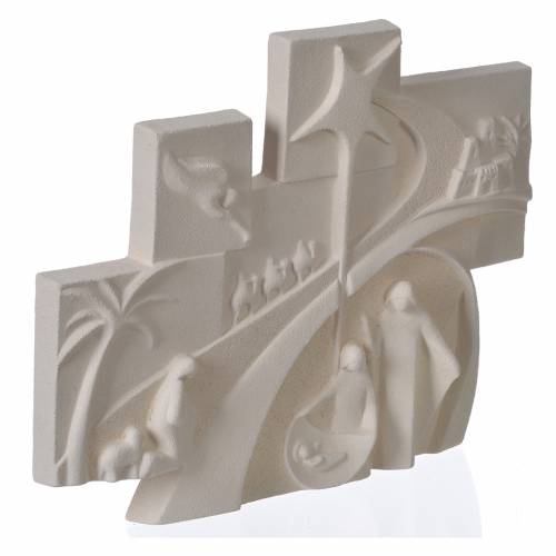 Conte de Noël cadre en bas-relief argile réfractaire s2
