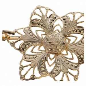 Cope clasp, gold-plated flower s2