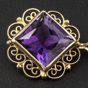 Cope Clasp in golden silver 800 filigree with Amethyst s2