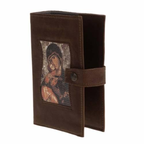 Copertina 4 vol. pelle marrone scuro Madonna con bimbo s2