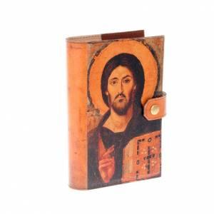 Custodie lit. ore 4 vol.: Copertina 4 vol. vera pelle icona Pantocratore