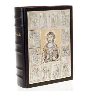 Custodie per messali e benedizionali: Copertina Messale con placca Cristo Pantocratore