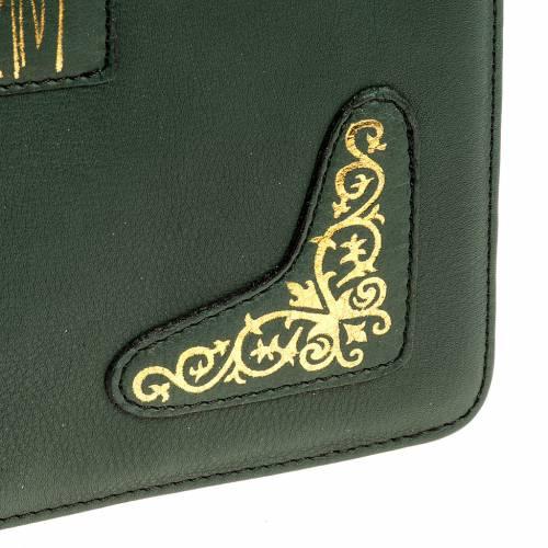 Copertina per messale romano verde stampa oro s5