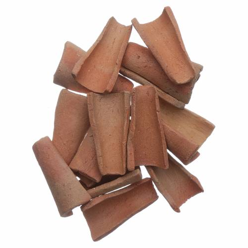 Coppi terracotta 100 pz presepe 3x1,6x1 cm s1